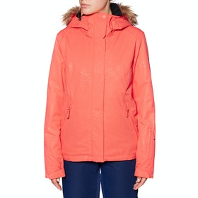 Roxy Jet Ski Solid Womens Snow Jacket - Living Coral Arrow Feel Emboss