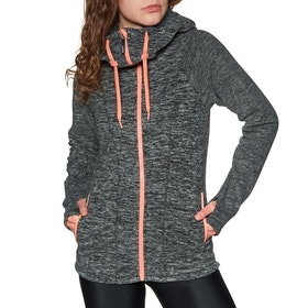 Sweat à Capuche avec Fermeture Éclair Femme Roxy Electric Feeling 3 - Charcoal Heather
