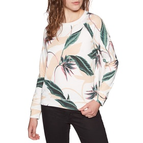 Sudadera Mujer Roxy Night Is Young - Snow White Lunar Flower
