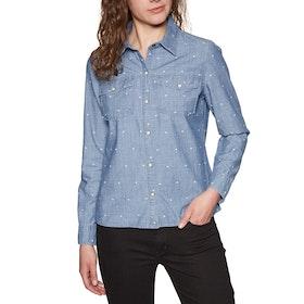 Roxy Paradisiac Cascade Womens Shirt - Medium Blue