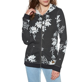 Roxy Trippin All Over Womens Zip Hoody - Anthracite Bicolys
