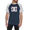DC Star Raglan Short Sleeve T-Shirt - Black Iris Grey Heather