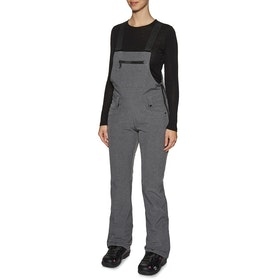 686 Gossip Softshell Bib Womens Snow Pant - Grey Melange