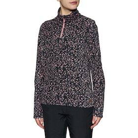 Protest Fuzzy 1/4 Zip Top Womens Fleece - Think Pink