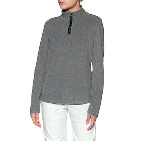 Protest Muteym 1/4 Zip Top Womens Fleece - Dark Grey Melee