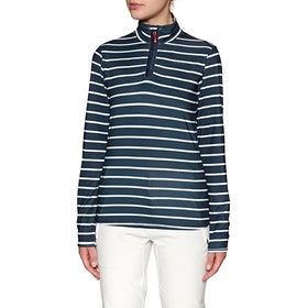 Polaire Femme Protest Tipsy 1/4 Zip Top - Ground Blue
