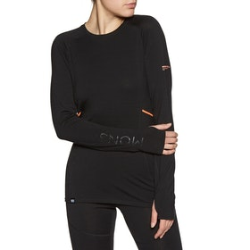Mons Royale Olympus 3 Ls Womens Base Layer Top - Black