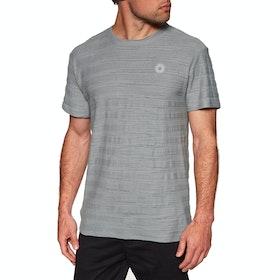 Rhythm Bangalow Textured Short Sleeve T-Shirt - Stone Blue