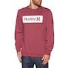 Hurley O and O Boxed Crew Fleece Sweater - Cedar