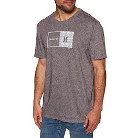 Hurley Siro Natural Print Short Sleeve T-Shirt - Mahogany Htr