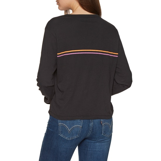 Hurley Line Bars Perfect Long Sleeve T-Shirt