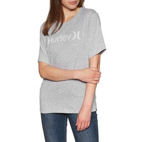 Hurley One & Only Push Through Short Sleeve T-Shirt - Grey Htr