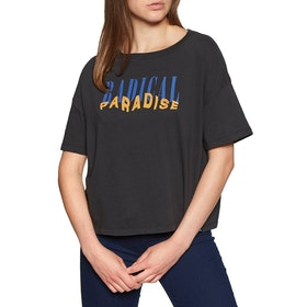 Hurley Radical Paradise Flouncy Short Sleeve T-Shirt - Black