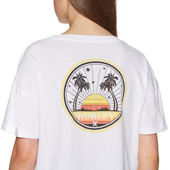 Hurley Sun Stripes Flouncy Short Sleeve T-Shirt