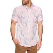 RVCA Liu Wong Palms Short Sleeve Shirt