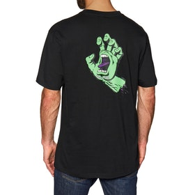 Santa Cruz FSU Hand Short Sleeve T-Shirt - Black