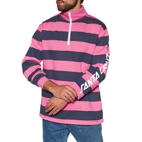 Santa Cruz Run Up Quarter Zip Crew Sweater - Orchid Pink