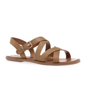 Toms Sicily Leather Womens Sandals - Natural