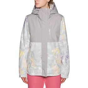 Blouson pour Snowboard Femme Roxy Jetty 3in1 - Heather Grey Botanical Flowers