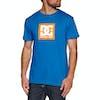 DC Square Stars Short Sleeve T-Shirt - Nautical Blue Orange Popsicle
