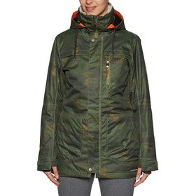 Blouson pour Snowboard Femme 686 Spirit Insulated - Surplus Green Blanket