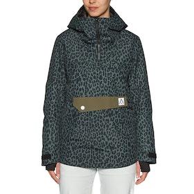 Wear Colour Homage Anorak Womens Snow Jacket - Black Leo