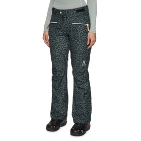 Wear Colour Cork Womens Snow Pant - Black Leo
