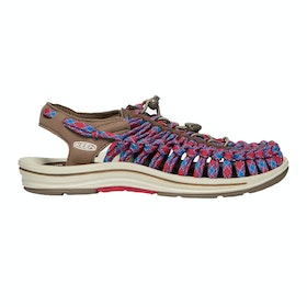Keen Uneek 8mm Flat Ladies Sandals - Walnut Crimson
