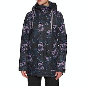 Blouson pour Snowboard Volcom Westland Ins - Black Floral Print