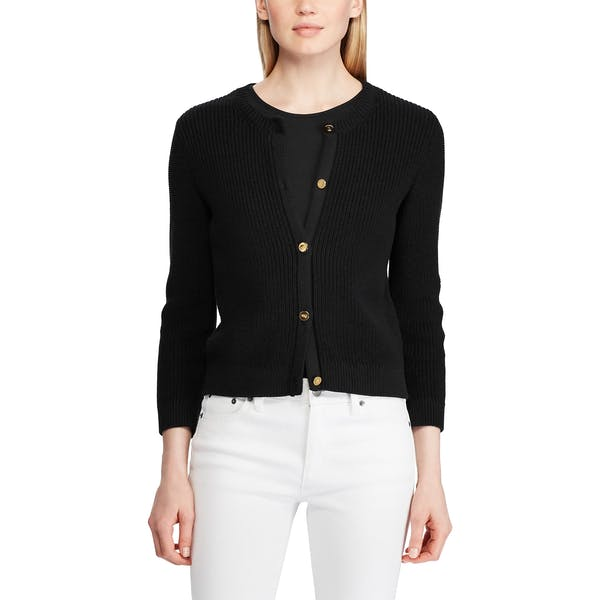 new style d7967 529a9 Ralph Lauren Annalie 3/4 Sleeve Damen Strickjacke - Polo ...