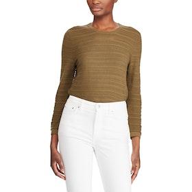 Lauren Ralph Lauren Ruthie 3/4 Sleeve Women's Sweater - Explorer Olive