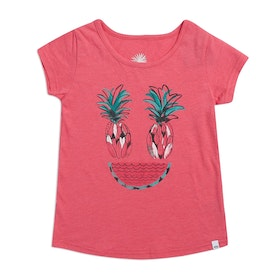Animal Fruity Girls Short Sleeve T-Shirt - Paradise Pink Marl