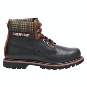 Caterpillar Colorado Plaid Boots - Black