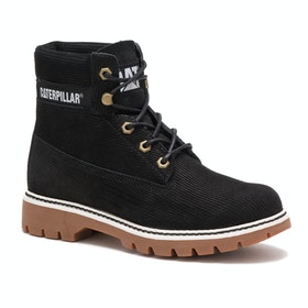 Caterpillar Lyric Corduroy Ladies Boots - Black