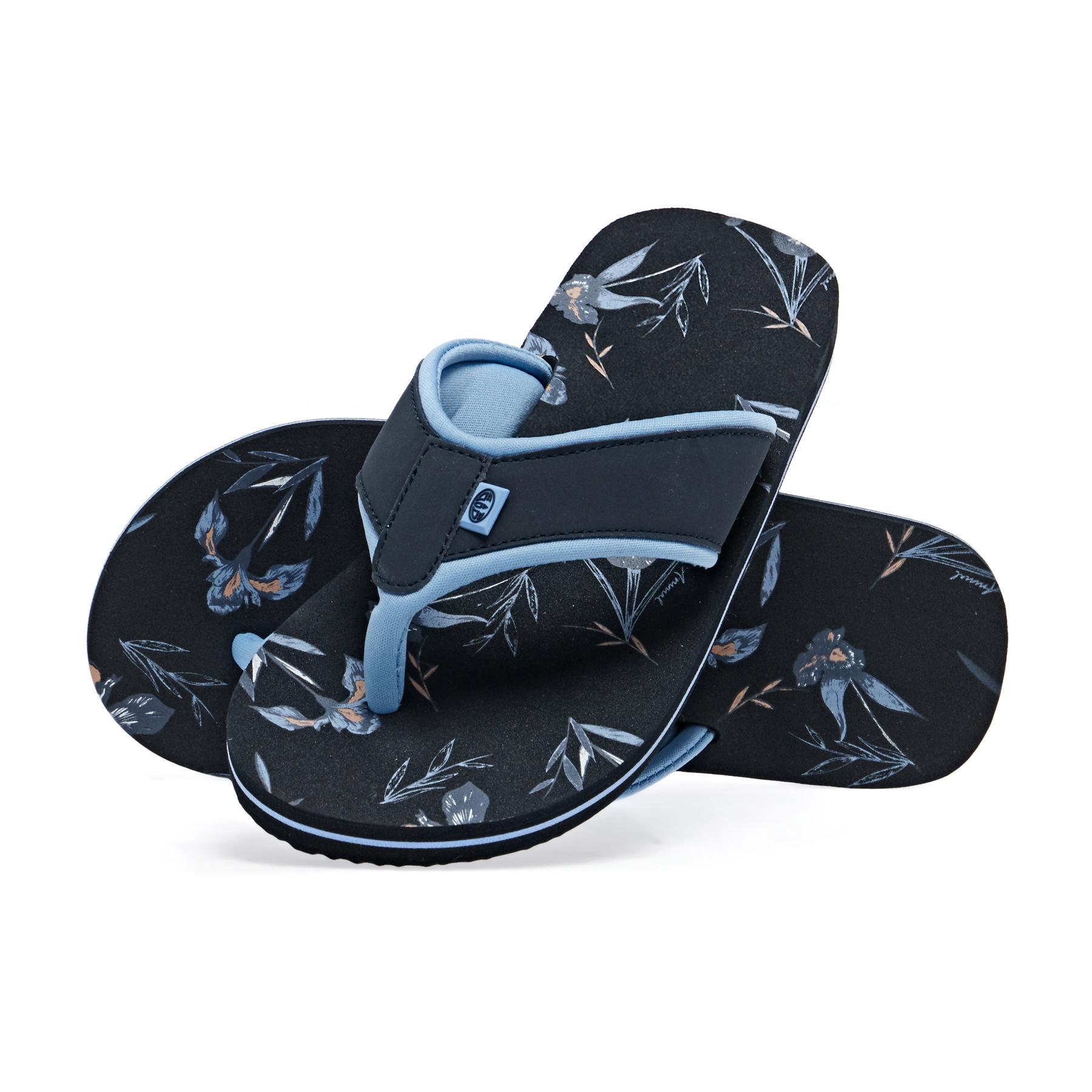 All Sizes India Ink Blue Animal Swish Aop Flip Flops