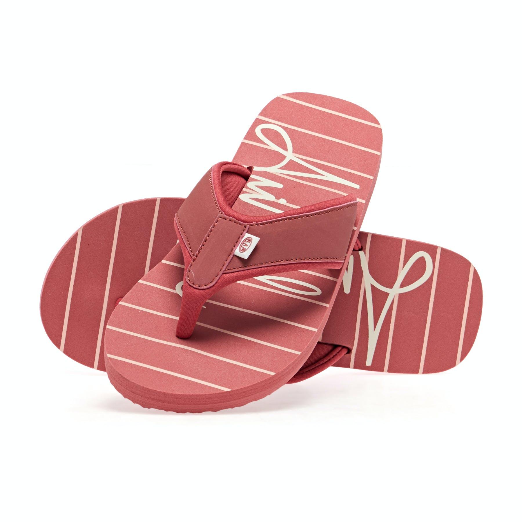 Animal Swish Beach Flip Flops in Stripes
