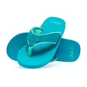 Animal Swish Block Womens Sandals - Capri Blue
