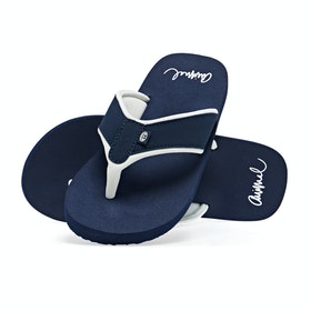 Animal Swish Block Womens Sandals - Mid Navy Blue