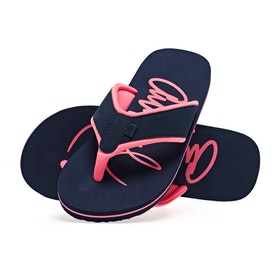 Animal Swish Logo Womens Sandals - Mid Navy Blue