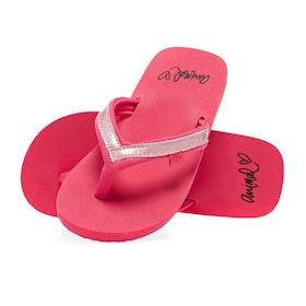 Animal Swish Slim Girls Sandals - Paradise Pink
