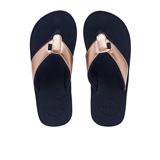 Animal Swish Upper Womens Flip Flops