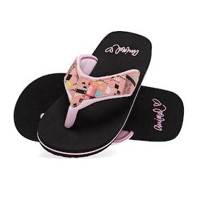 Animal Swish Upper AOP Girls Sandals - Paradise Pink