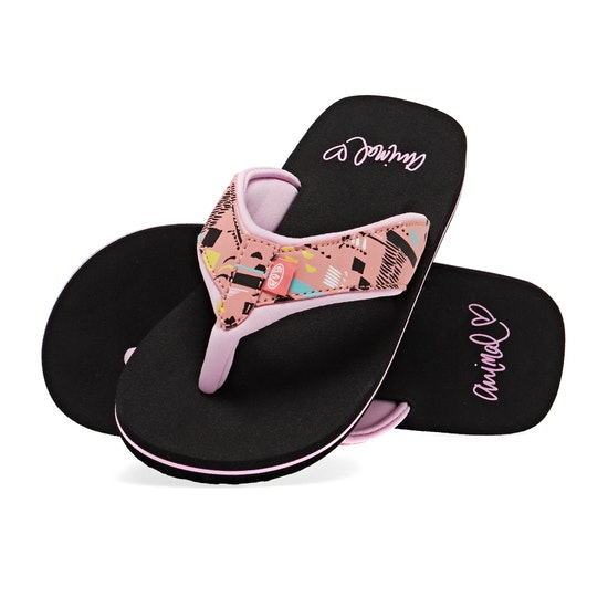 Animal Swish Upper AOP Girls Flip Flops