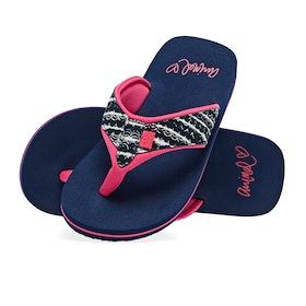 Animal Swish Upper AOP Girls Sandals - Patriot Blue