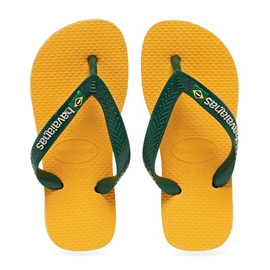 Havaianas Brasil Logo Kids Flip Flops