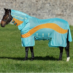 Amigo Evolution Fly Rug - Aqua Orange