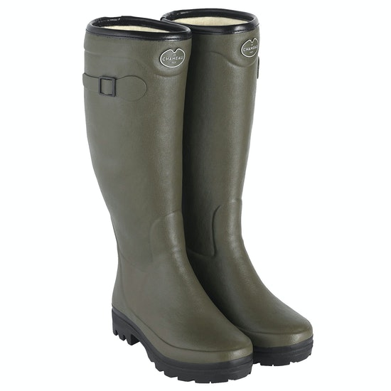 Le Chameau Country Wool Lined Ladies Wellingtons