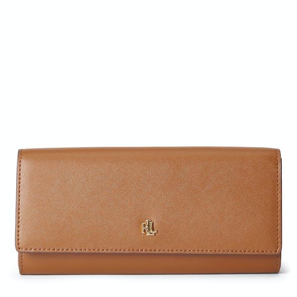 wholesale dealer 06294 60aac Portafoglio Donna Ralph Lauren Flap Contntl - Field Brown ...