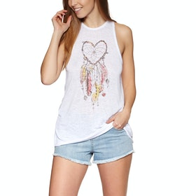 Animal Smiling Womens Tank Vest - White