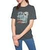 Animal Streaky Womens Short Sleeve T-Shirt - Magnet Grey Marl